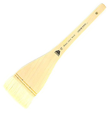 Prima White Goat Hake Brush with Split Handle: Size 2 1/2""