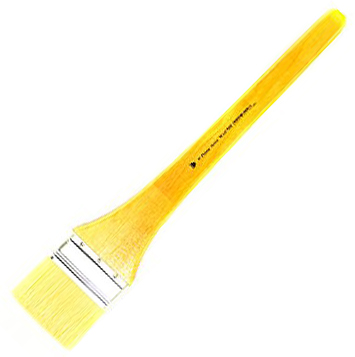 Prima White Bristle Wash with Metal Ferrule: Long Handle, Size 6