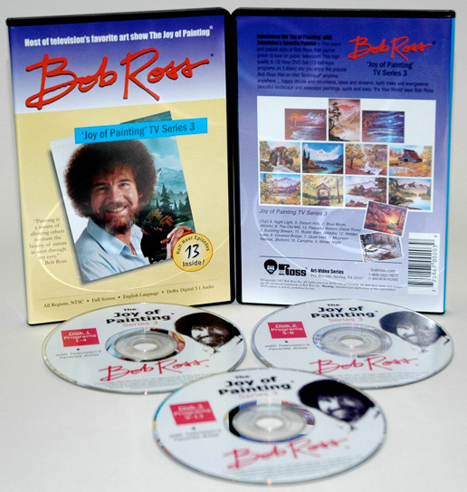Bob Ross DVD: Joy Of Painting, Series 3-13 Shows (3 Discs), 6.5 Hour