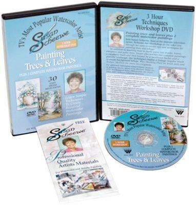 Susan Scheewe DVD: Watercolor Trees & Leaves 3 Hour Workshop DVD PLUS 2 Complete Watercolor Paintings