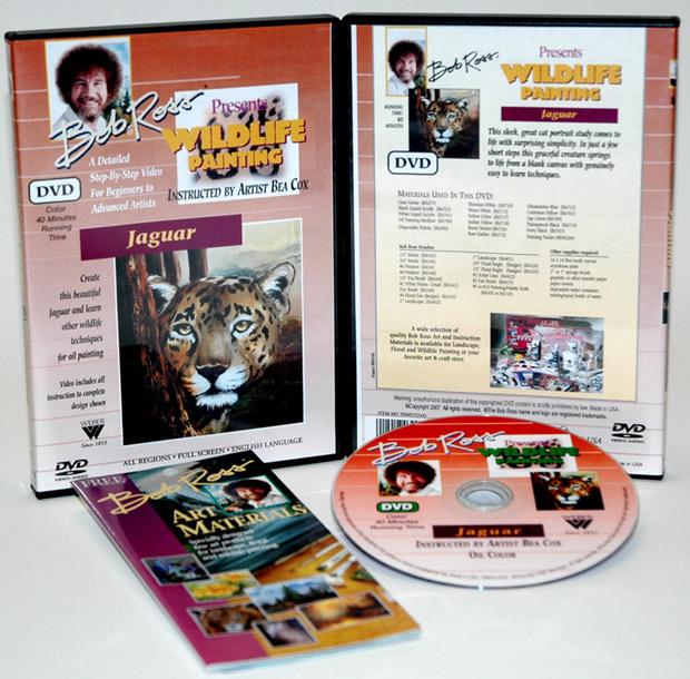 Ross DVD Wildlife Painting: Jaguar, 40 Minute