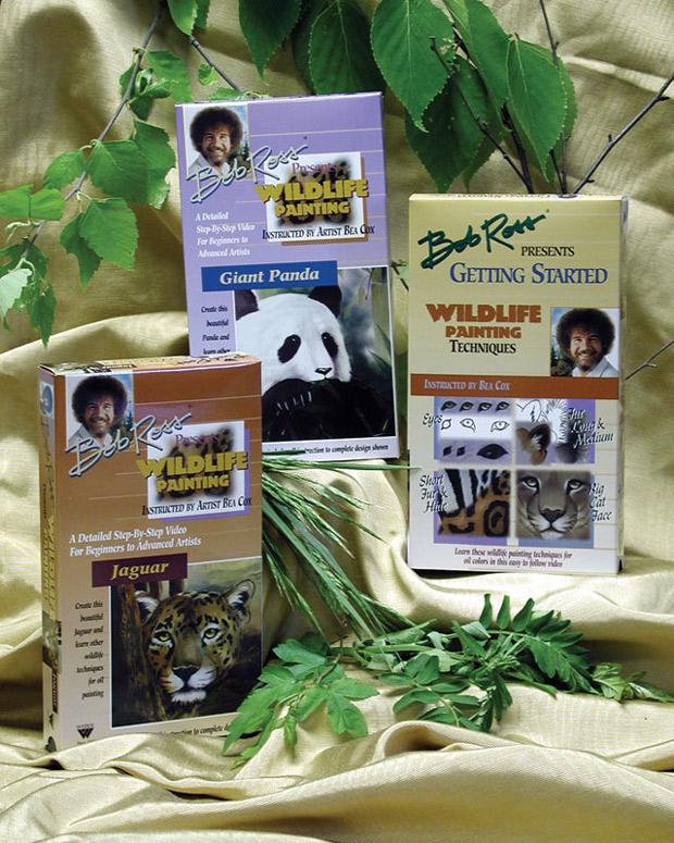 Bob Ross DVD: Wildlife Painting G.S. Panda & Jaguar, 3 Disc Set (2.6 Hour)