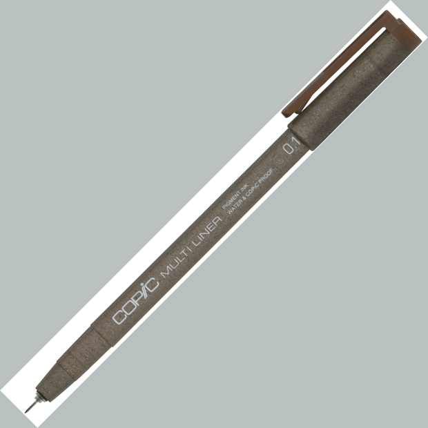 Copic Disposable Multiliner Pen: Brown, 0.1mm