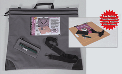 Leonardo Portfolio Drawing Kit, Gray