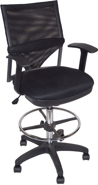 Comfort-Mesh Drafting Chair Black: Model # 91-02406115