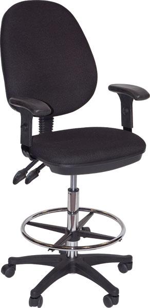 Grandeur Drafting Height Chair Black: Model # 91-02606115