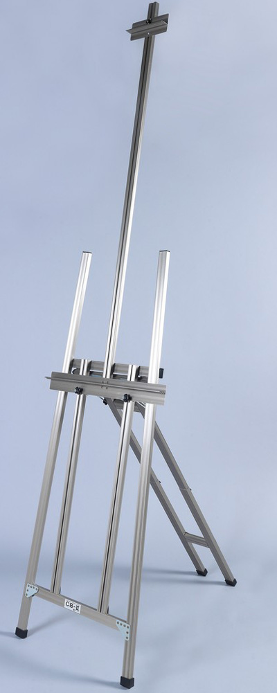 Martin Ambiente Maxum H-Frame Easel: Natural Aluminum