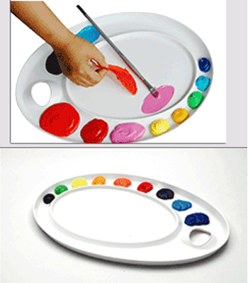 Mijello Ellipse XL Peel-Able Acrylic/Oil Palette