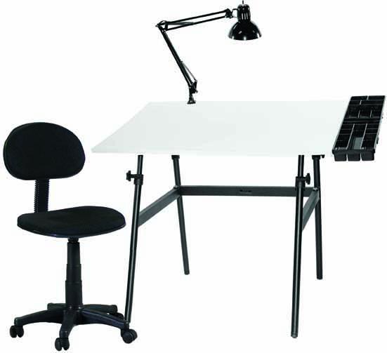 Berkeley Classic Black/White 30 inch x 42 inch Top/Desk Chair