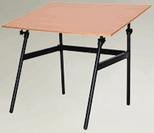 Berkeley Classic Black Base 30 inch x 42 inch Cherry wood Top