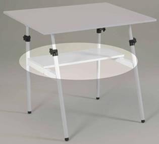 Berkeley Classic Black Base 30 inch x 42 inch White Top and Shelf