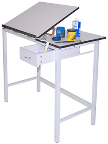 Manchester Table with Tilting Top 20inch x 24inch & 12inch x 20inch: Model # U-DS1922W