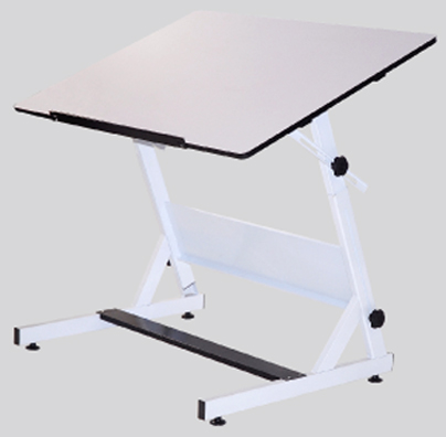 MXZ Drawing Table White Base with 31.5inch x 48inch White Top: Model # U-DS5000WD