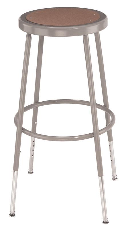 """National Public Seating Corp 25"""" - 32.5"""" Adjustable Basic Stool"""