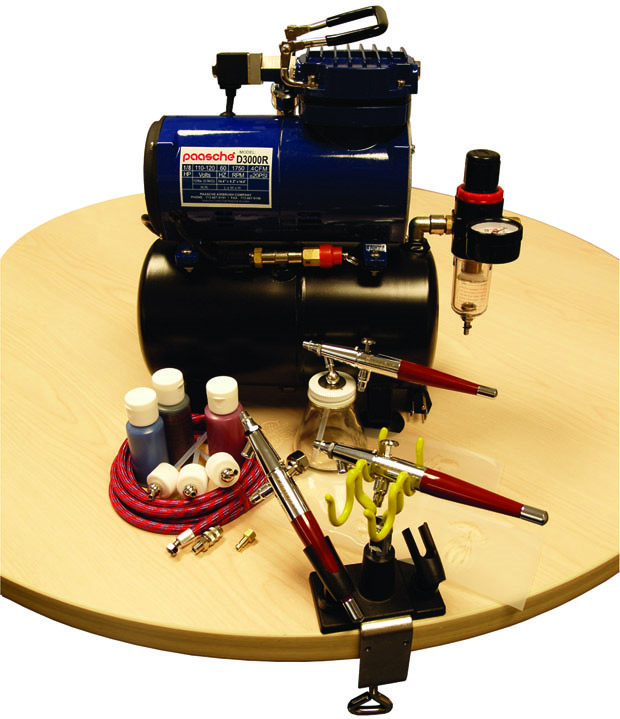 Paasche PTS-SET Professional Tattoo Set with D3000R Air Compressor (1/8 hp.)