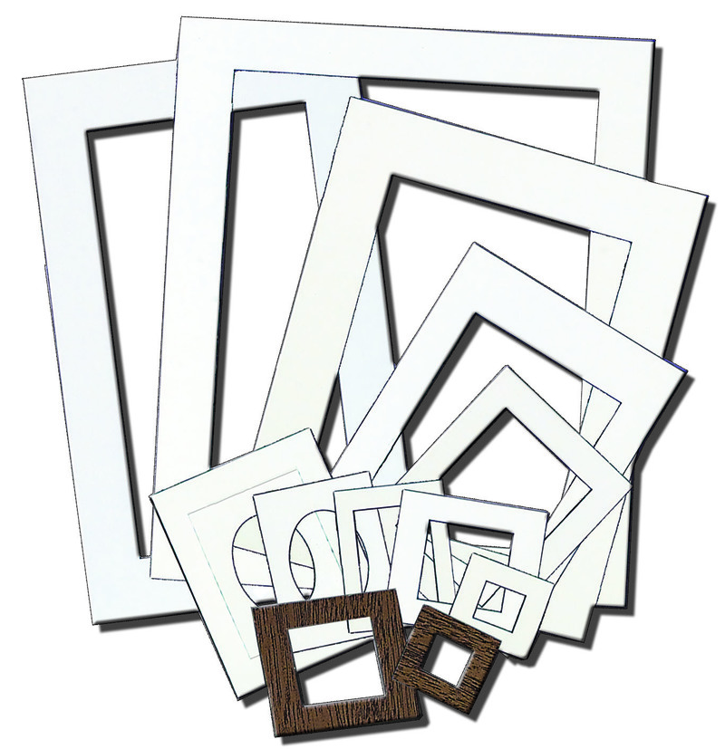 Inovart Picture-It White Pre-Cut Art/Photo Mat Frames - 12 per pack