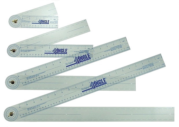 True Angle Adjustable Protractor Ruler: 4-Pack