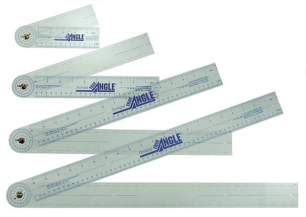 "True Angle Adjustable Protractor Ruler: 7"", Pocket Size"