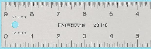 """Fairgate Eluxite Aluminum Centering Ruler: 12"""""""