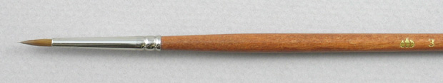 Pure Red Sable 5105 Round # 3 Brush: Head Shot