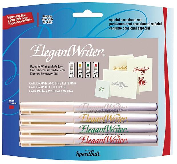 Speedball Elegant Writer Calligraphy Marker: 4-Color Set