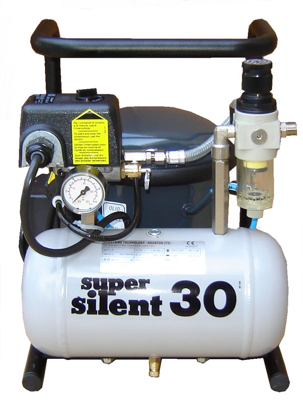 Silentaire Super Silent 30-TC Silent Runnig Airbrush Compressor