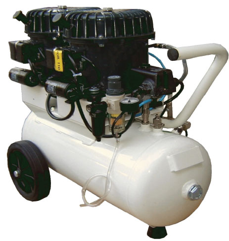 Silentaire Val-Air 100-24 AL Silent Running Airbrush Compressor: Oil Lubricated