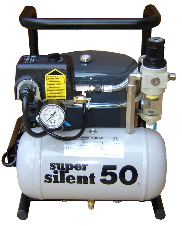 Silentaire Super Silent 50-TC Silent Runnig Airbrush Compressor