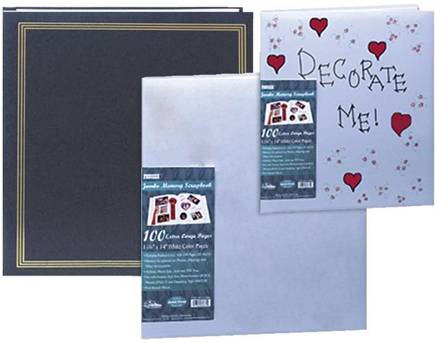 Pioneer Jumbo Scrapbook: Assorted Covers with 100 Buff Paper Pages