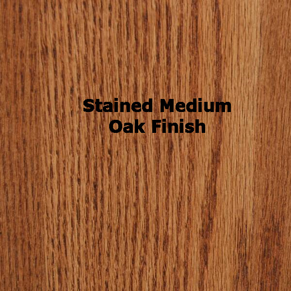 "SMI Stained Medium Oak Finish 24"" x 36"" Oak Plan File"