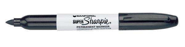 Sharpie Super Sharpie Bold Point Permanent Marker Black