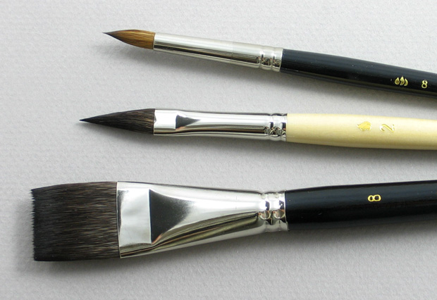 Artist Set of 3 Art Brushes: Head Shot