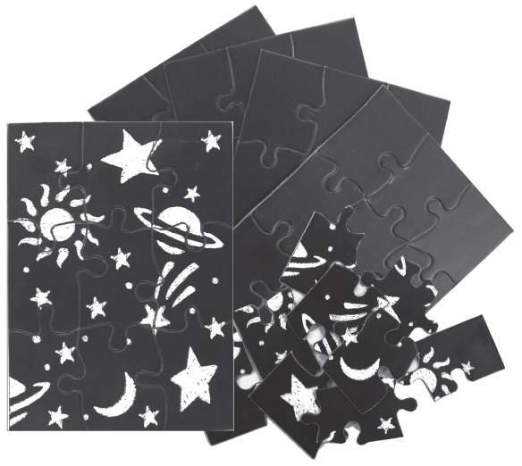 Skratch n' Sketch Puzzles - 9 piece - 12 per pack