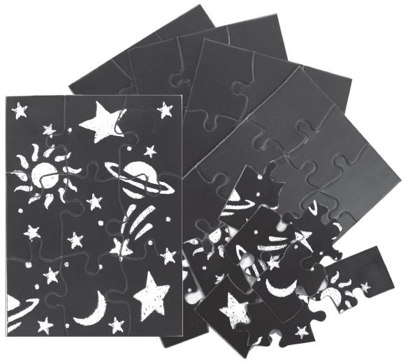 Skratch n' Sketch Puzzles - 9 piece - 24 per pack