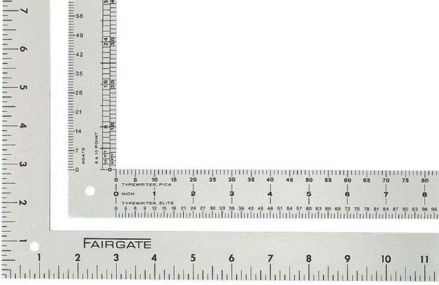 Fairgate Aluminum L106 Designer L-Square: 14 X 24 Inches Length