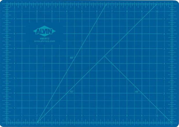 Alvin® Self-Healing Hobby Mat: Blue/Gray 12 X 18
