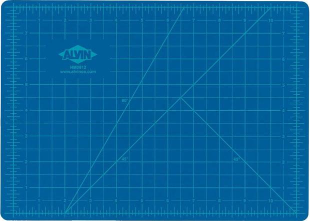 Alvin® Self-Healing Hobby Mat: Blue/Gray 8.5 X 12