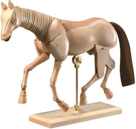 Heritage™ Wooden Animal Mannequin: Horse Mannequin 12