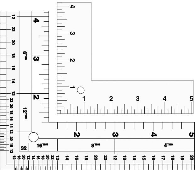 Lance Standard Aluminum L-Square: 24 X 14 Inches