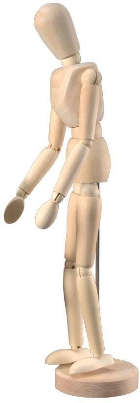 Heritage™ Unisex Mannequin: Wooden Mannequin 12 Inch