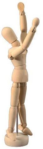 Heritage™ Unisex Mannequin: Wooden Mannequin 5.5 Unisex