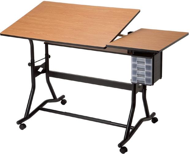 Alvin CraftMaster III Split-Top Drafting, Drawing and Art Table: Woodgrain Top, Black Base