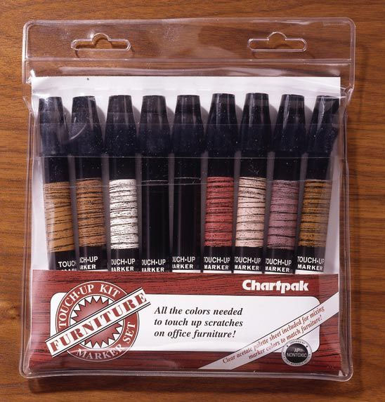 Chartpak® Furniture Touch-Up Marker Kit
