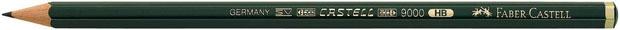Faber-Castell 9000 Black Lead Pencil: 6H