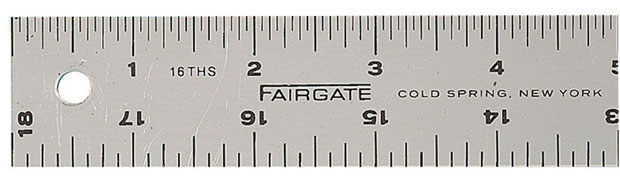 Fairgate® Cork-Back Aluminum Rule: 48