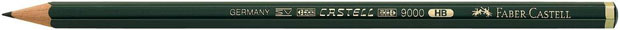 Faber-Castell 9000 Black Lead Pencil: 4H