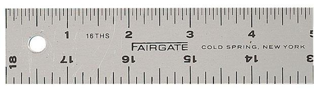 Fairgate® Cork-Back Aluminum Rule: 12