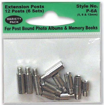 Pioneer Extension Post: Variety Pack, 6-Set of 5,8,12mm Post & 4-Set of Screw Post