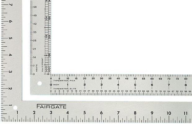 Fairgate Aluminum L911 Designer L-Square: 12.5 X 13.5