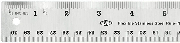 Alvin Flexible Stainless Steel Ruler: 18 Inches
